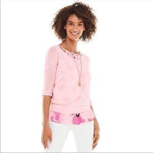 Cabi Gossamer Pullover Top M light pink